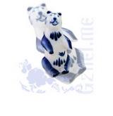 """Ск. """"Медведь"""" авт.Азарова (Гжель-Малахит)"""