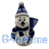Ск. Снеговик с метлой (маст. Пулеметова М.)