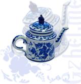 Чайник №2 авт.Хазов (Гжель-Малахит)