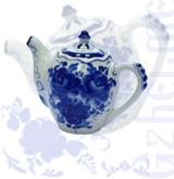 Чайник мал. №2 авт. Окулова (Гжель-Малахит)