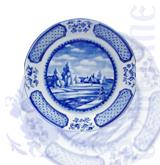 """Блюдо """" Императорское"""" темат.роспись (Гжельский ФЗ)"""