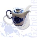 """Чайник """"Европейский"""" №1 (Гжель-Малахит)"""