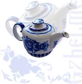 """Чайник """"Европейский"""" №2 (Гжель-Малахит)"""
