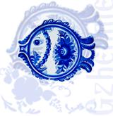 Доска д/сыра круглая (Новая Гжель)