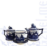 Сервиз чайный квадратный (Тема) мастерская Пулеметовых