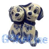 Скульптура Собачки парочка Мастерская Пулеметовых